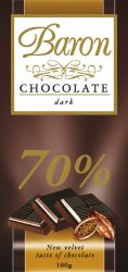Baron étcsokoládé 100g /70%/