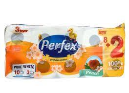 Perfex 8+2 eü papír 3R 120lap parfüm/kamilla